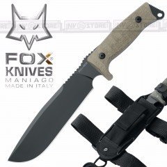 KNIFE COLTELLO FOX KNIVES MANIAGO 133MGT ORIGINALE MADE IN ITALY CACCIA SURVIVOR