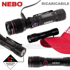 Torcia da Bici NEBO ARC500 BIKE LIGHT Ricaricabile LED 500 Lumens + COB LED