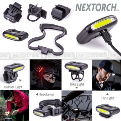 Torcia NEXTORCH UL10 Compact Clip Light 65 Lumens 18 Mt LED da Visiera Berretto