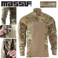 MASSIF TYPE II Combat Tactical Shirt Flame Resistant Maglia Tattica MultiCam ®