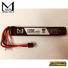 Batteria Lipo Li-Po MAKO INDUSTRIES 11,1V 1200 mAh 20C per Fucili Softair DIN