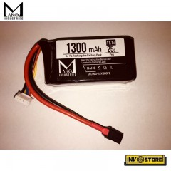 Batteria Lipo Li-Po MAKO INDUSTRIES 11,1V 1300 mAh 25C per An-Peq Fucili Softair