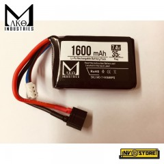Batteria Lipo Li-Po MAKO INDUSTRIES 7,4V 1600 mAh 35C per An-Peq Fucili Softair