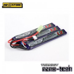 Batteria Lipo Litio TURNIGY NANO TECH 11,1V - 1200 mAh 15-25C per Fucili Softair