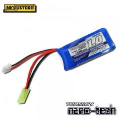 Batteria Lipo TURNIGY NANO TECH 7,4 V 1000 mAh 20-30C Tamiya per Fucili Softair