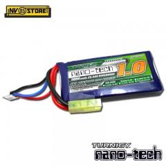 Batteria Lipo TURNIGY NANO TECH 7,4 V 1000 mAh 25-50C Tamiya per Fucili Softair