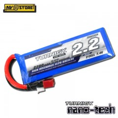 Batteria Lipo TURNIGY NANO TECH 7,4 V 2200 mAh 20-30C T DIN per Fucili Softair