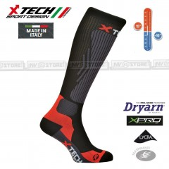 Calze Termiche Tecniche COMPRESSION X-TECH SPORT Made in Italy 100% Socks BK