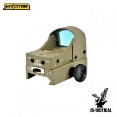 Mini Red Dot JS Tactical Punto Rosso per Fucile Carabina Ris slitta Weaver TAN