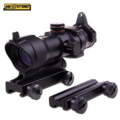 Red Dot ACOG Punto Rosso 1X32 per Fucile Carabina Ris Slitta Weaver 22mm + 11mm