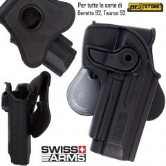Fondina Pistola Holster SWISS ARMS per Beretta 92 Series e Taurus PT92 Series