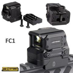 Red Dot Olografico FC1 Reflex 20mm per Fucile Carabina Ris Slitta Weaver 22mm BK