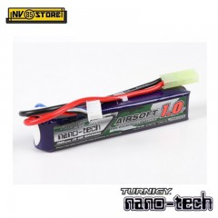 Batteria Lipo Litio TURNIGY NANO TECH 7,4V - 1200 mAh 15-25C per Fucili Softair