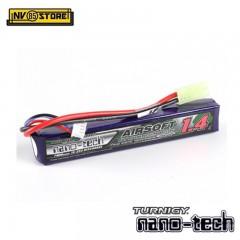 Batteria Lipo TURNIGY NANO TECH 11,1V 1400mAh 15-25C Tamiya per Fucili Softair A