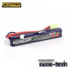 Batteria Lipo TURNIGY NANO TECH 7,4V 1400mAh 15-25C Tamiya per Fucili Softair A