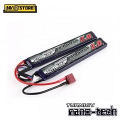 Batteria Lipo TURNIGY NANO TECH 7,4V 2000mAh 15-30C T-DIN per Fucili Softair B
