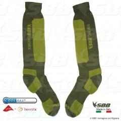 Calze COOLMAX SBB Made in ITALY Traspiranti Socks 4 STAGIONI Imbottite Tecniche
