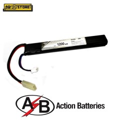 Batteria Lipo AB Action Batteries 7,4V 1200mAh 20C Tamiya per Fucili Softair A
