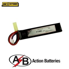 Batteria Lipo AB Action Batteries 7,4V 1100mAh 20C Tamiya per Fucili Softair A