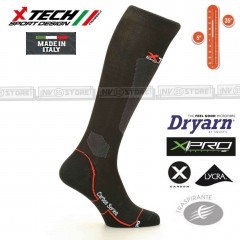 Calze Tecniche X-TECH SPORT 2.0 Dryarn Carbon Resistex X-Pro Made in Italy 100%