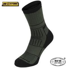 """Calze Termiche MFH Thermo Socks """"Alaska"""" Invernali Imbottite Tecniche Verde OD"""