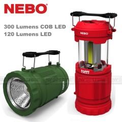 Torcia Lanterna NEBO Poppy Lantern 300 Lumen COB LED + 120 Lumens LED Torch 120m