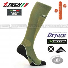Calze Tecniche X-TECH SPORT XT25 Dryarn Carbon Resistex X-Pro Made in Italy 100%