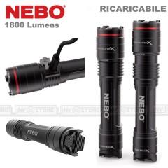 Torcia NEBO Redline X Ricaricabile LED 1800 Lumens Zoom 4X Distanza 250 Metri