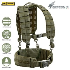 Gilet Tattico Suspender DEFCON 5 Loading Harness Bearing Belt MOLLE Militare OD