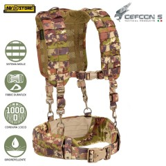 Gilet Tattico Suspender DEFCON 5 Loading Harness Bearing Belt MOLLE Militare VI