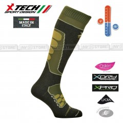 Calze Termiche Tecniche Q-SKIN X-TECH SPORT Made in Italy 100% Thermo Socks R OD