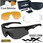 WILEY-X Rogue Occhiali Balistici Protezione Balistica 3 Lenti Intercambiabili