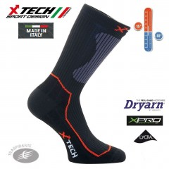 Calze Tecniche X-TECH SPORT XT55 +15° -10° Dryarn X-Pro Lycra Made in Italy 100%