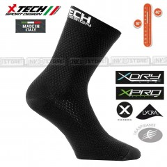 Calze Tecniche X-TECH SPORT XT87 X-Carbon X-Dry X-Pro Made in Italy 100% Socks N