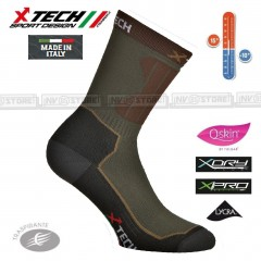 Calze Tecniche X-TECH SPORT XT45 +10° -10° Q-Skin X-Dry XPro Lycra Made in Italy