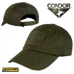 CAPPELLO BERRETTO MESH CONDOR TACTICAL CAP ORIGINALE US ARMY MILITARE SOFTAIR OD