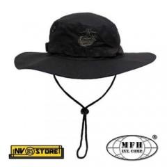 Bonnie Hat USMC Marines Corps Logo Ricamato RipStop Cappello Militare Softair BK