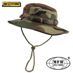 Bush Boonie Hat US Cappello Militare Jungle MFH WOODLAND Softair Caccia Cap