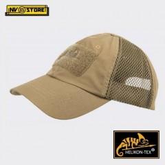 Cappello Berretto Baseball HELIKON-TEX Cap Mesh Militare Softair Caccia Coyote