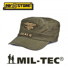 CAPPELLO BERRETTO MIL-TEC LOGO NAVY SEALS MARINES MILITARE SOFTAIR SURVIVOR OD