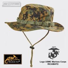 Boonie Hat HELIKON-TEX Marpat USMC 100% Originale Logo RICAMATO Militare Softair