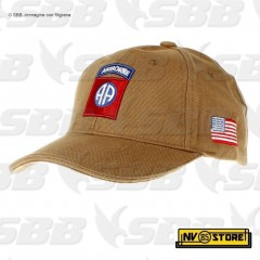 CAPPELLO BERRETTO AIRBORNE 82nd **ORIGINALE 100%** US ARMY MILITARE SOFTAIR TAN