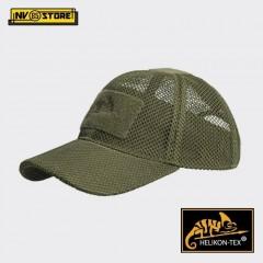 Cappello Berretto Baseball HELIKON-TEX Cap Mesh Militare Softair Caccia Verde OD