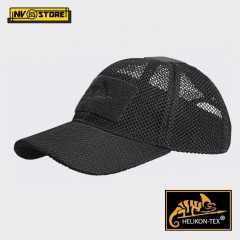 Cappello Berretto Baseball HELIKON-TEX Cap Mesh Militare Softair Caccia Black
