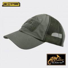 Cappello Berretto Baseball HELIKON-TEX Cap Mesh Militare Softair Caccia OlivDrab
