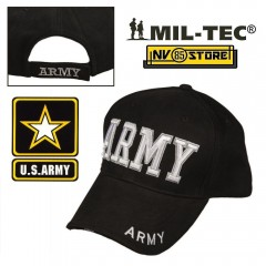 CAPPELLO BERRETTO MIL-TEC LOGO US ARMY MILITARE SOFTAIR SURVIVOR NERO BASEBALL