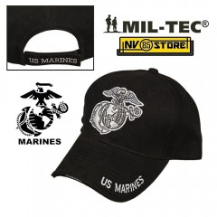CAPPELLO BERRETTO MIL-TEC LOGO MARINES USA US ARMY MILITARE SOFTAIR BASEBALL