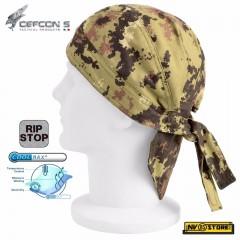 Bandana Mimetica Militare DEFCON 5 in RIPSTOP COOLMAX Traspirante Color VEGETATO