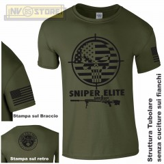 Maglia T-SHIRT GILDAN American Sniper Chris Kyle Teschio Maglietta Uomo STAMPA V