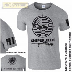 Maglia T-SHIRT GILDAN American Sniper Chris Kyle Teschio Maglietta Uomo STAMPA G
